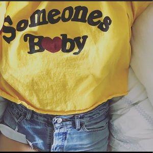 "NASTY GAL ""someone's b❤️by"" crop t-shirt"